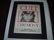 THE CULT CEREMONY WITH UK TOUR DATES 1991 ORIGINAL POSTER SIZE AD IN A MOUNT READY TO FRAME
