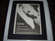 GENE OLYMPIAN 1995 WITH TOUR DATES ORIGINAL POSTER SIZE AD IN A MOUNT READY TO FRAME