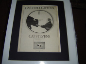 CAT STEVENS CATCH BULL AT FOUR 1972 ORIGINAL POSTER SIZE AD IN A MOUNT READY TO FRAME