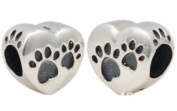 Heart with Paws - My Best Friend - Women's Charm - for Pandora Jewellery - 925 Sterling Silver