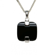Modern Square Jewelery set including the necklace and matching earrings, Black Onyx Stone