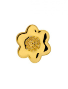 Gold Plated Cabouchon Flower Pin Brooch