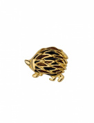 Gold Plated Enamel Cabouchon Hedgehog Pin Brooch