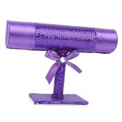 Sequinned T-bar Jewellery Bracelet Bangle Necklace Display Stand Holder 5CM Purple