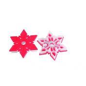 Silikomart Snowflake Cookie Cutter, Red