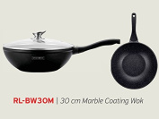 Royalty Line Wok with Lava Stone-Coating Diameter 30 cm Black