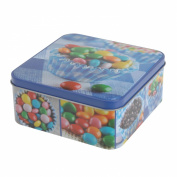 Sweets Design Square Kitchen Cake Biscuit Storage Tin Gift Box Container