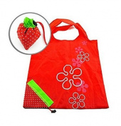 LIFECART Strawberry Foldable ECO Bags Reusable Shopping Tote Bags-Red