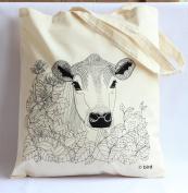 Through the hedge 'cow' Print Tote Bag