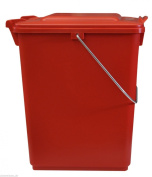 Dustbin SULO BIO BOY 10 L, household waste container with lid and metal handle, colour red