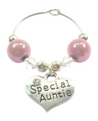 Special Auntie Wine Glass Charm comes in Gift Card Handmade by Libby's Market Place
