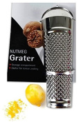 Stainless Stell Nutmeg Lemon Grater with Storage Compartment Gadget Kitchen Cheese Orange Lime Zester Useful Chocolate Zesting Tool