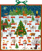 Coppenrath Bright Christmas Winter World with removable cards for each day Huge Traditional German Advent Calendar 41 cm wide x 46 cm