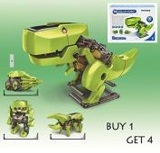 Wiysond 4 In 1 Solar Robot Educational Electronic Model Building Kits DIY Transforming Solar Robot