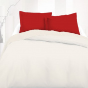 Red - SoulBedroom 100% Cotton Pillow Cases / Continental - 65 x 65 cm
