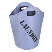 Blue Laundry Bag With Carry Handle Home Storage Washing Ironing Clothes Linen