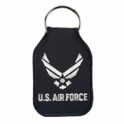 U.S. Air Force Embroidered Key Chains - Black W01S41B