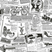 Antique Newsprint in Black and White - BK32083
