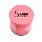 UCANB Waterproof 5 Colours Blusher Palette With Blush Brush