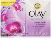 Olay Fresh Outlast Soothing Currant Beauty Bar, Orchid and Black, 4 Count