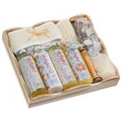 Delight ! wood spa vintage gift basket! Includes
