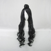 Hoozuki no Reitetsu Dakki Black 80CM Curly Cosplay Wig + Free Wig Cap