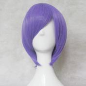 Tokyo Ghoul Shuu Tsukiyama Purple Short Cosplay Costume Wig + Free Wig Cap