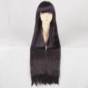 Inu x Boku SS Shirakiin Riricho 100CM Long Purple Black Cosplay Wig + Free Wig Cap