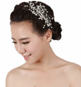 Wiipu Combs White Pearl for Wedding Comb Bridal Comb Hair Jewellery
