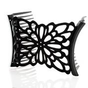 HairZing Flower Comfy Combs- Black- Medium - the Patented Original