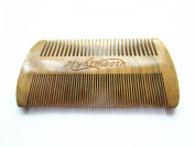 Myhsmooth GS-SM-NF Handmade Natural Green Sandalwood No Static Comb-pocket Comb (Beard) with Aromatic Scent for Long and Short Beards-perfect Moustache Comb