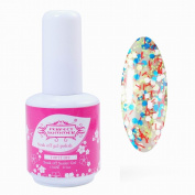 Perfect Summer 15ml 0.5oz Gloss Shellac Soak Off UV/LED Gel Nails Polish Perfect Match Snowflake #015 red blue white