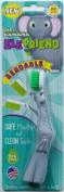 Baby Banana EleFriend Toddler Toothbrush, Grey/White