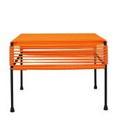 Innit Designs Adam Ottoman, Orange Weave on Black Frame