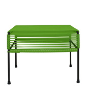 Innit Designs Adam Ottoman, Olive Weave on Black Frame