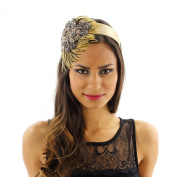 Gatsby Glamour Beaded and Feathered Headband