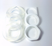 Alamould Moulds Clear Silicone Mould for Set of 3 Bangle Bracelet Moulds for Resin Jewellery