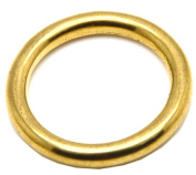 Okones 4 Sizes Solid Brass o Ring for Webbing Strapping Flat Cords Belting Leathercraft Pack of 10pcs BRA0022