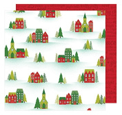American Crafts Shimelle Christmas Magic Silent Scrapbook Paper