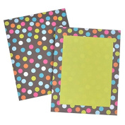 Bright Multi Dots 2 Sided Stationery 50CT