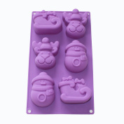 X-Haibei Christmas Holiday Snowman Reindeer Sleigh Soap Cake Chocolate Silicone Mould Pan