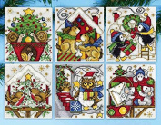 Design Works Counted Cross Stitch Kit ~ Home for Christmas Ornaments