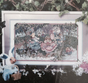 "Something Special Counted Cross Stitch Kit #128640cm Cottontail Cotillion"" Bunny Rabbits"