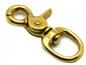 Okones Really Quality 2Sizes Solid Brass Lobster Clasps Oval Swivel Trigger Clips Hooks for Straps Bags Belting leathercraft (Pack of 4)
