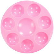 """marvellous - """" CANDY PINK """" NonStick & Unbreakable Synthetic Rubber Paint Tray Palette [ 8 Well ] Easy-Clean, Safer & Long Lasting -- Imported By Kit's Inventive --"""