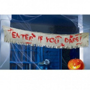 Amscan Sinister Surgery Enter in You Dare Burlap Cloth Banner