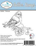 Elizabeth Craft Designs Titmouse Cling Red Rubber Stamp RS024