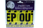 9.1m Yellow Keep Out Fright Tape Halloween Decoration Haunted
