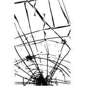 Prima Marketing - 4x6 Cling Stamp 3 - Broken Glass