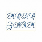 ABC Machine Embroidery Designs Set - Monogram 7.6cm Two Sizes - 52 Designs - 4x 4 Hoop - CD